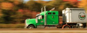 camion con botellas de vino y documentos de acompañamiento
