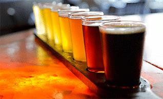 diferentes cervezas en tonalidades diferentes