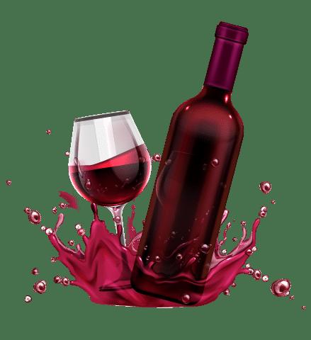 botella de vino en una oficina