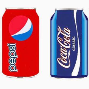 infografía marca pepsi y Coca Cola